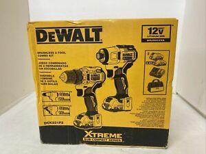 NEW DeWALT DCK221F2 12V MAX XTREME Brushless Cordless Drill and Impact Combo Kit