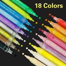 Acrylstifte Marker 18 Farben Set mittlere Strichstärke Steine bemalen Bestseller
