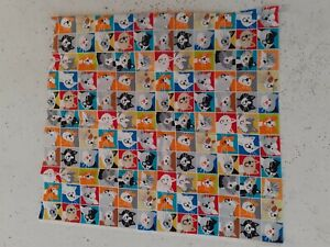 Patchwork fabric:  SQUARE CATS, 55 x 58 cms,  each square 5 cms.