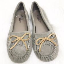 LUCKY BRAND Womens ABELLE2 Cow Split Suede Moccasins Shoes Size 6B