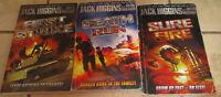 Lot 3 Jack Higgins Justin Richards Books SURE FIRE Death Run FIRST STRIKE