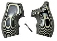 J Frame Grips fits most Smith Wesson S&W Gry/Blk G10 38/357 XL Half Wrap NEW '21