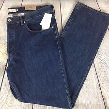 H & M L.O.G.G Size 42 Regular Fit Dark Wash Buttonfly Men's Jeans Denim Pants