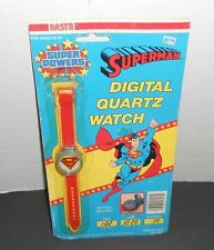 Vintage SUPERMAN Super Powers Digital Wrsitwatch MOC Quartz Watch HTF
