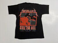 Vintage 80s Metallica Kill Em All Ride The Lightning Tour Concert T Shirt 1985