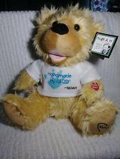 "NOAH benShea Teddy Bear Talking Animated Stuffed Animal Handmade by God Pbc 12"""