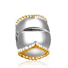 Everbling Heart Shape Clip Stopper Bead Fits European Charm Bracelet