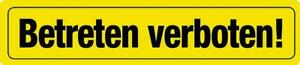 Magnet Blechschild BETRETEN VERBOTEN Deko Schild Wanddeko Kinderzimmer