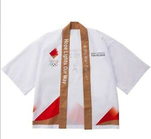 TOKYO 2020 Olympic Official HAPPI Jacket Kimono Torch Relay Emblem Limited