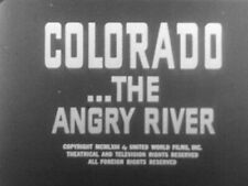 """16mm FILM MOVIE  Rafting down COLORADO RIVER & Grand Canyon """"The Angry River"""""""