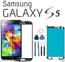 Black Outer Front Glass Screen Replacement Frame for Samsung Galaxy S5