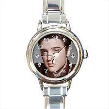 NEW*HOT ELVIS PRESLEY Round Italian Charm Wrist Watch Gift D06