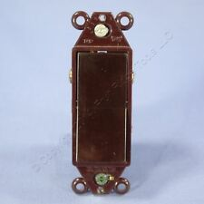 Eagle Brown Decorator Rocker Wall Light Switch 6303B 15A