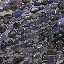 "15.5"" Natural Blue Iolite Gemstone Free Form Nugget Beads ap.8-9 x 10mm #11262"