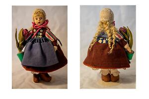 Felt Dolls ~ Miniatures ~ Bundle ~ Lenci ~ Brazilian ~ Vintage 1930 - 1950