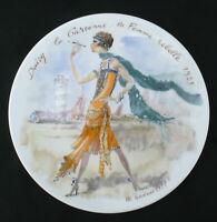 Limoges Porzellan Premiere Edition Sammelteller les femmes du siecle - 1925