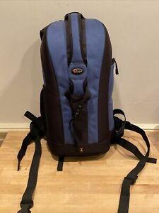 LOWEPRO Flipside 200 Camera Backpack Bag Case for DSLR Camera Blue & Black EUC