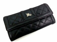 Ladies Burberry Brown Quilted Leather Purse / Wallet Card Storage, Coins & Notes