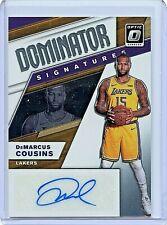 2019-20 Donruss Optic DeMarcus Cousins AUTO Dominator Signatures /99 Lakers
