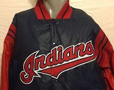 VTG Majestic Diamond Collection Cleveland Indians Jacket Sz Large MLB Baseball