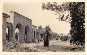 Washington DC Franciscan Monastery The Portico Real Photo Postcard AA43446