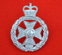 British Army. Royal Green Jackets Genuine Officer's Cap Badge