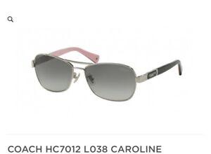 NEW Coach 7012 L038 Caroline Sunglasses 910211 Silver 100% AUTHENTIC