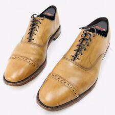 Mens Allen Edmonds Fifth Ave Cap-Toe Leather Oxford Size 11.5 D Chestnut Brown