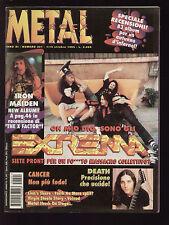 METAL SHOCK 201/1995 EXTREMA VOIVOD IRON MAIDEN VIRGIN STEEL NEGRITA CANCER