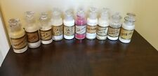 Antique apothecary glass bottles with paper labels with contents lot of 10