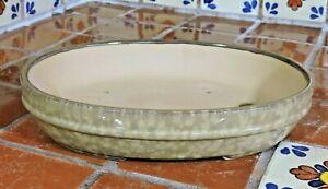 "Japanese 10"" High Quality Khaki Glazed Hi Temp Fired Bonsai Pot Bonsai Pots"