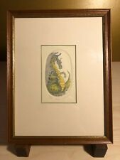 """Listed Artist R.H. BADEAU Limited Edition Colored Etching """"Dragon"""" Framed 54/200"""