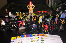 DC Heroclix Lot of 30 Mini Figures w Cards Superman Robin Batgirl Flash Lantern