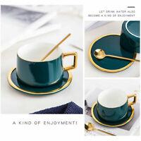 3 Piece Tea Coffee Cup Set With Spoon And Saucer Tray Ceramic Tea Mug Gift Set
