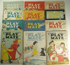 1951 Children's Playmate magazines All 12 issues, Paper Dolls in All. Very Good