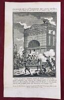Barrière des Gobelins 13 Juillet 1789 Révolution de Paris Rare Gravure d'époque