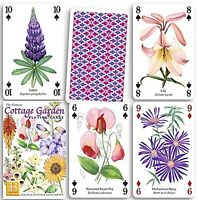 Cottage Garden set of 52 playing cards + jokers (hpc)