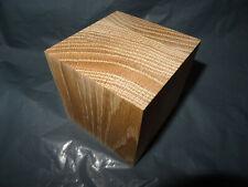 1 @ 83mm x 83mm x 83mm Square engineered Oak  HARDWOOD CUBES WOODEN BLOCK / cube