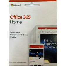 Microsoft Office 365 Home 6 Utenti Abbonamento 1 Anno PC e MAC Italiano ESD