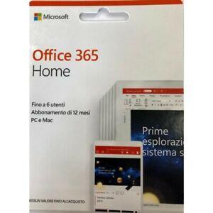 Microsoft Office 365 Home 6 Utenti Abbonamento 1 Anno PC e MAC Italiano ESD