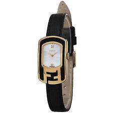 Fendi Women's Chameleon MOP Dial Black Leather Strap Quartz Watch F311424511D1