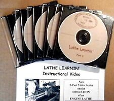 LATHE VIDEO MOTORCYCLE-RACE CAR-BOAT-AIRPLANE-MACHINIST