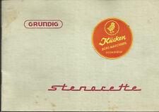 1955 Grundig stenorette Bedienungsanleitung PROSPEKT original Drucksache C 289