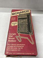 Monarch Wall Mount Mailbox Nib Black Model Mon-1