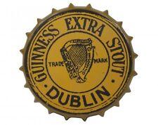 Guinness Gold Vintage Metal Bottle Cap Sign Dublin Ireland Irish Wall Art