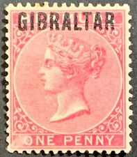 Gibraltar Overprint on Bermuda, One Penny, Scott #2, Mint Original Gum (HR), VF