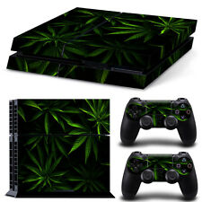 SONY PS4 PlayStation 4 SKIN Design Adesivo Pellicola Protettiva Set - CANNABIS 9