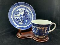 Blue Willow Tea Cup And Saucer Johnson Brothers Earthenware Made In England