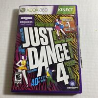 Just Dance 4 (Microsoft Xbox 360, 2012) Video Game Free Ship Good Condition
