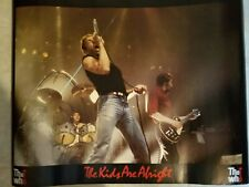 """ The Who "" 1984 Poster ! Vintage. New Old Stock. Unused. 35 Yrs Old. Sealed."
